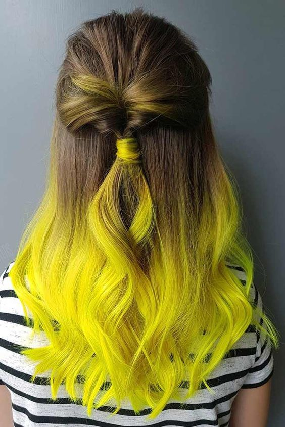 34 Trendy Yellow Ombre Hair Colors Ide