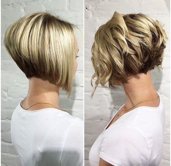 Trendy Stacked Bob Haircut