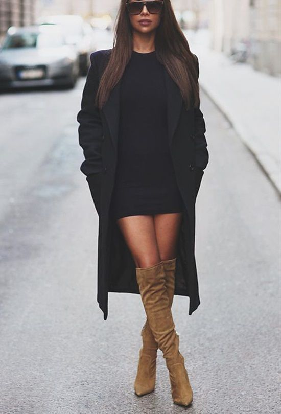 20 Stylish Ways To Wear Over The Knee Boots This Year | Outfit .