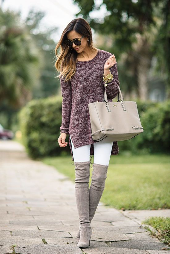 30 Ways To Wear Over The Knee Boots | Fashion, Fall outfits .