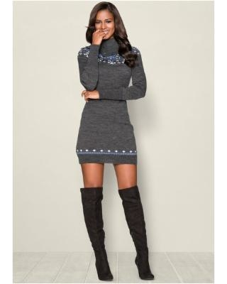 Turtleneck Sweater Dresses for Women