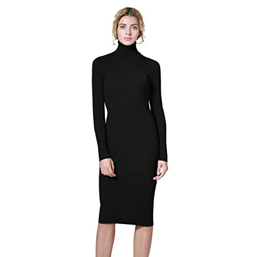 Turtleneck Sweater Dresses: Amazon.c