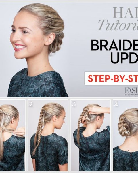 Braided updo tutorial: Learn how to do this sleek holiday .