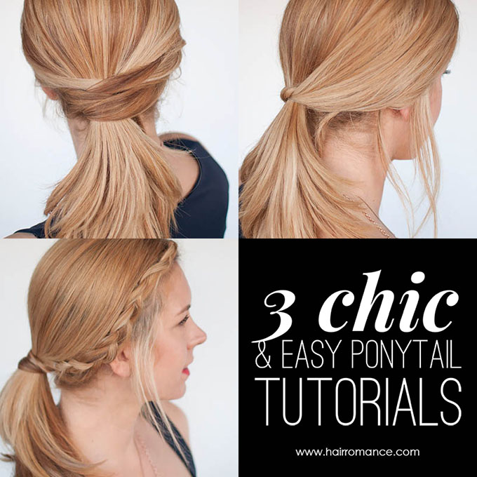3 chic ponytail tutorials to lift your everyday hair game - Hair .