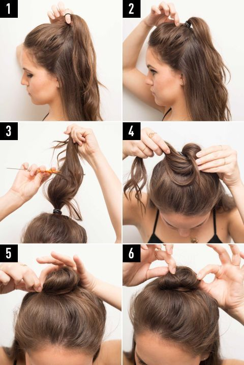 17 Tutorials to Show You How to Make Half Buns | Toupierte haare .
