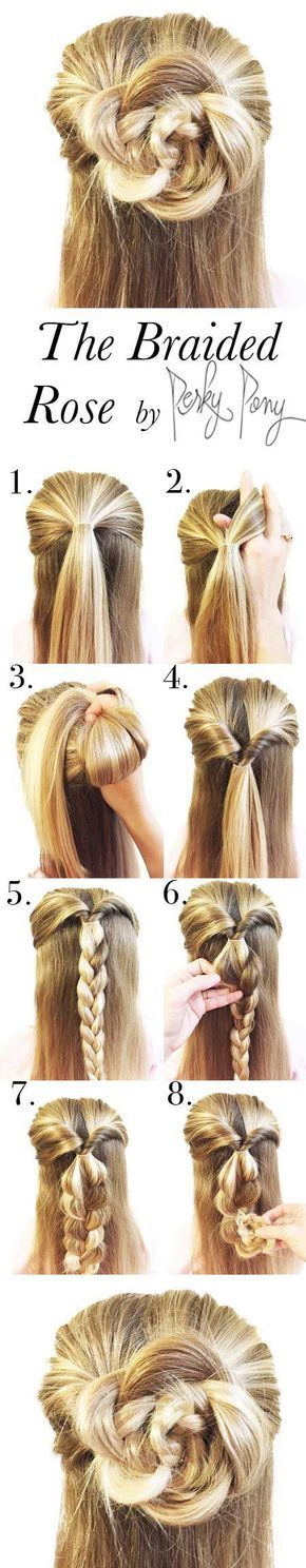 17 Tutorials to Show You How to Make Half Buns | Long hair styles .