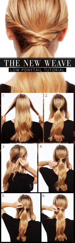 Twisted Ponytail Tutorials
