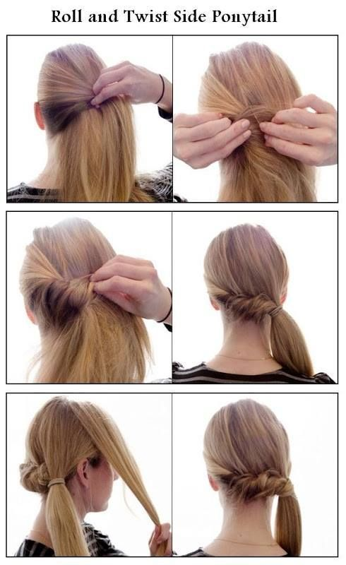 Roll #twist #side #ponytail #hairstyle #Tutorial | Side ponytail .