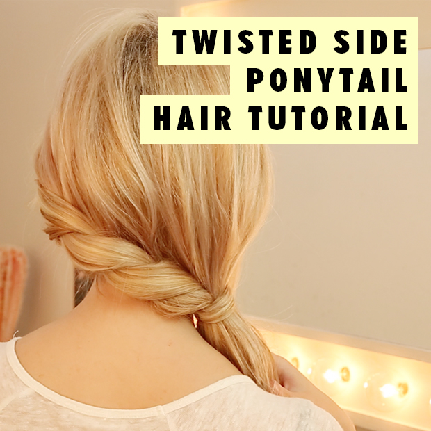 Twisted Side Ponytail Hair Tutorial - Hair Extensions Blog | Hair .