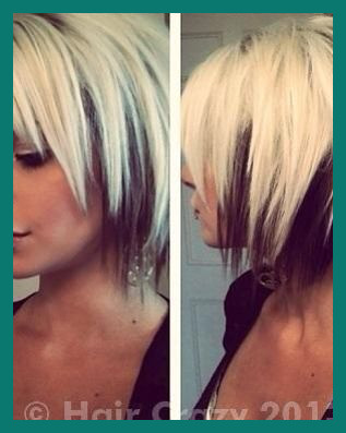 Two tone Hairstyles for Short Hair 413535 Pin On Cuts & Colors .