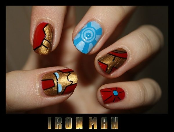 Pin by Laura Waters on Avengers Nail Art | Iron man nails, Marvel .