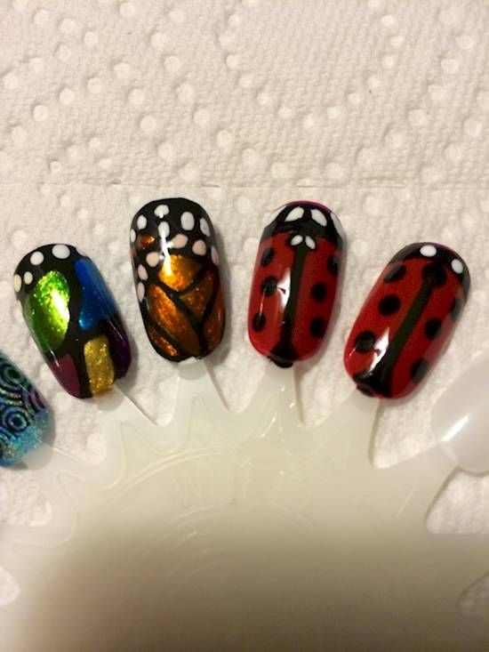 These bug-inspired nail designs are an unexpected ode to nature .