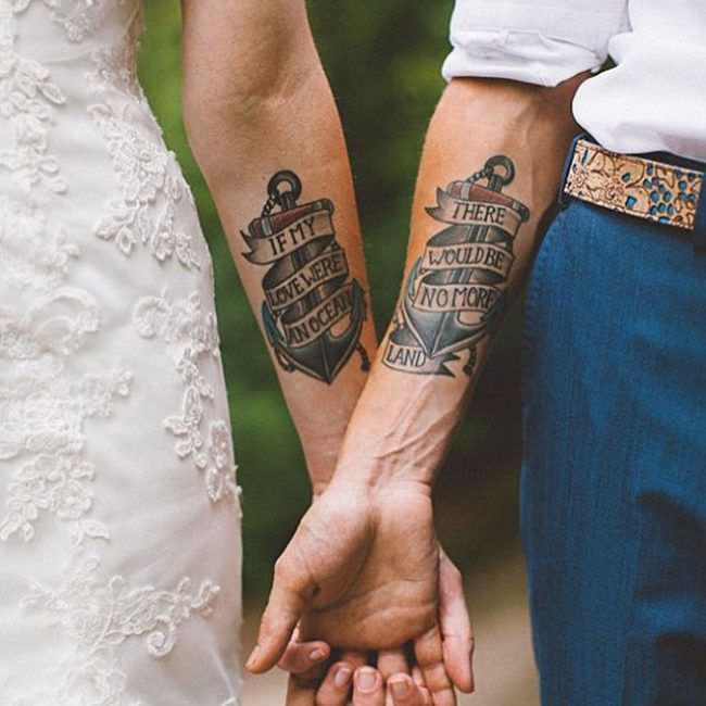 250 Lovely Matching Tattoos For Couples - Wild Tattoo A