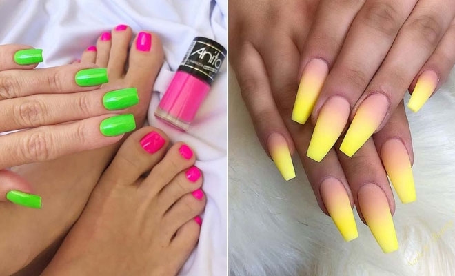 43 Neon Nail Designs That Are Perfect for Summer | StayGl
