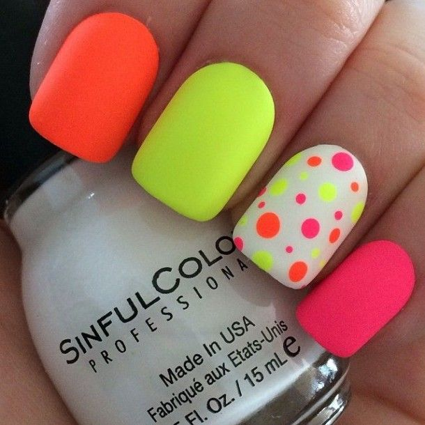 20 Neon Nail Designs for Unique And Stylish Look #Nails | Nail .
