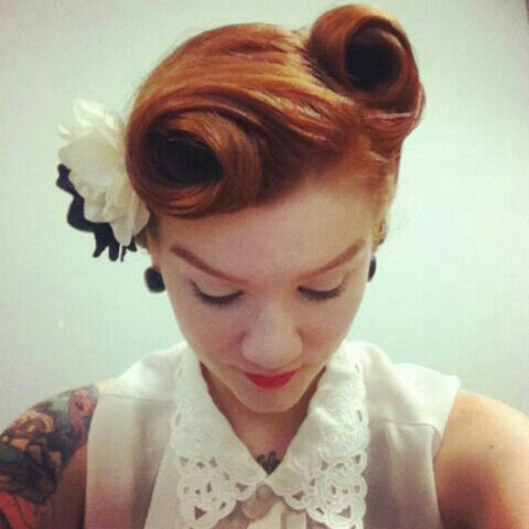 Pin on Pin-up hair do