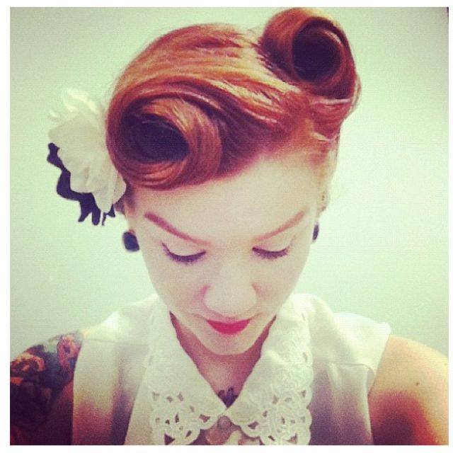 Hairstyles: Vintage Updo for Every Girl | Hair styles, Short hair .