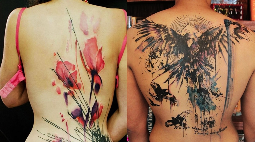 Watercolor Tattoos For Women at PaintingValley.com | Explore .