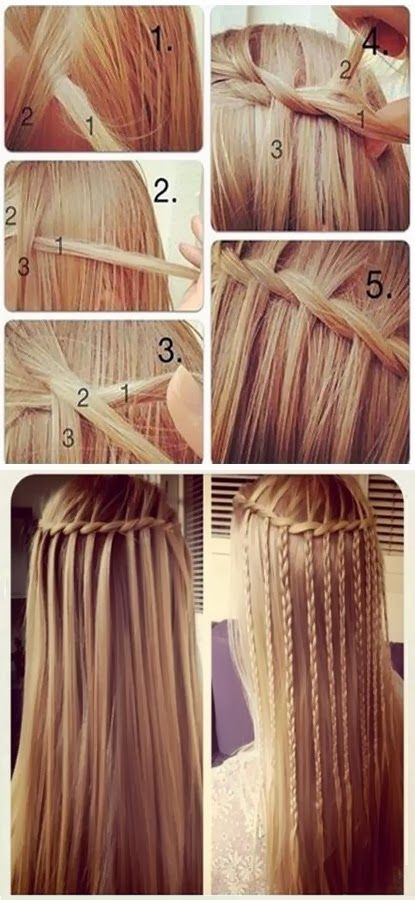 Braids from Free-Flowing Waterfall Strands – Cute DIY Projec
