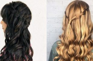 How to Create a Waterfall Braid for Beginners - Easy Braided .