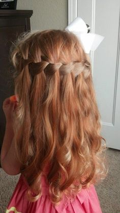 14 Stunning Waterfall French Braids for Girls | Frisuren, Mädchen .