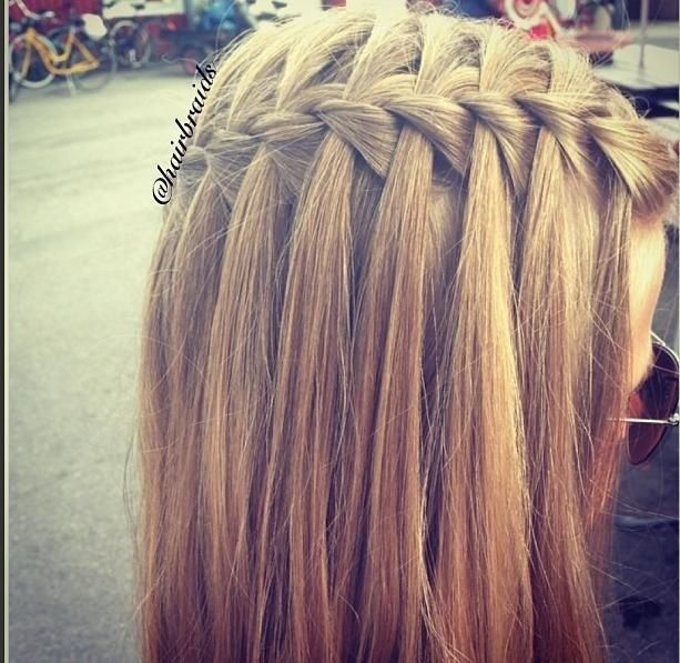 11 Waterfall French Braid Hairstyles: Long Hair Ideas | Frisuren .