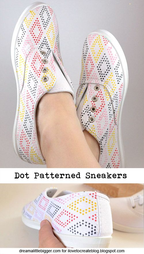 Use Stencils to Make DIY Patterned Shoes | Shoe makeover, How to .