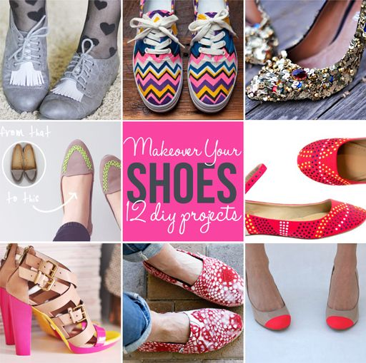 12 DIY Ideas for a Shoe Makeover | Shoe makeover, Shoe refashion .
