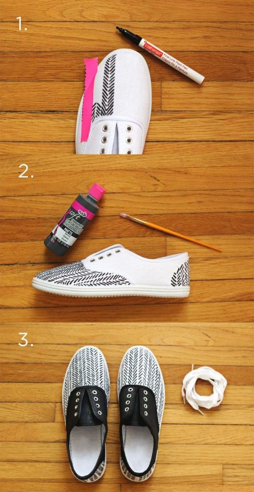 11 Ways for You to Makeover the Sneakers | Diy shoes, Diy sneakers .