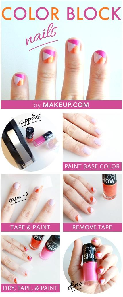 12 Ways to Make Colorful Nails With Scotch Tape - Pretty Desig