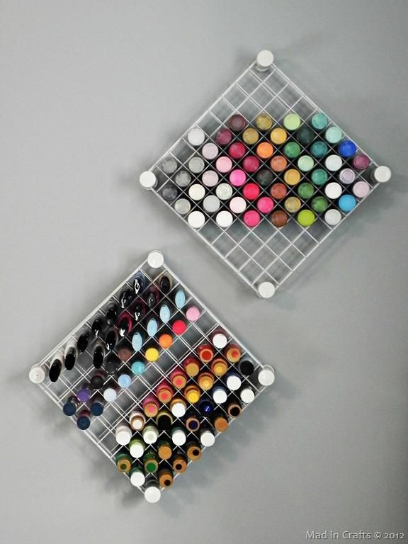 6 Seriously Creative Ways to Store Your Nail Polish | Craft paint .