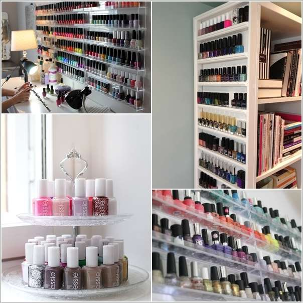 10 Cool and Clever Nail Polish Storage Ide