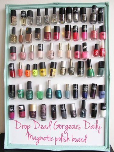 7 Pretty Ways to Show Off Your Nail Polish Collection | Diy nail .