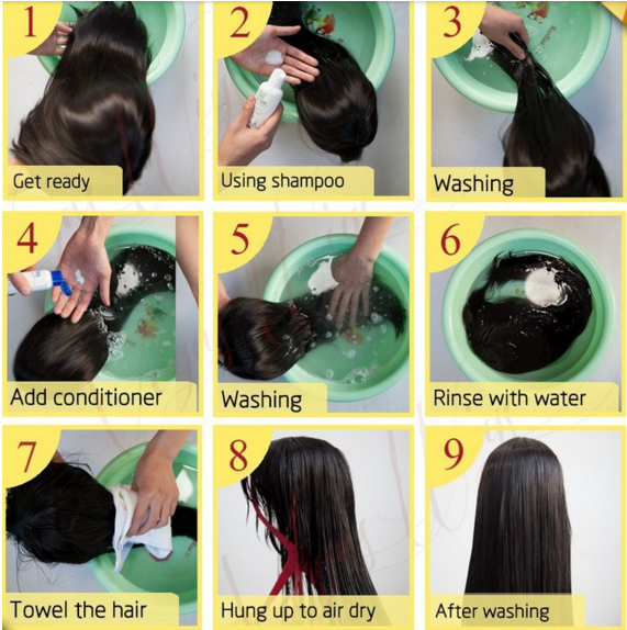 HAIR AND WIG CARE INSTRUCTIONS TO KEEP YOUR HAIR LOOKING BOMB .