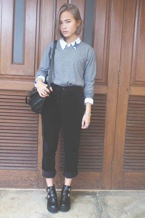 How to Wear Grey Sweater - Search for Grey Sweater | Chictop