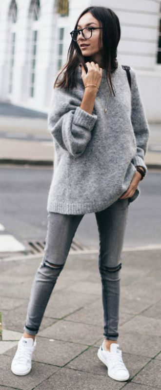 Grey Knitwear, Grey Layers, Grey Outfits... Grey Is A Trend .
