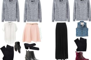 ways to wear a grey sweater on We Heart