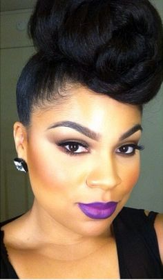133 Best Black Wedding Hairstyles images | Wedding hairstyles .