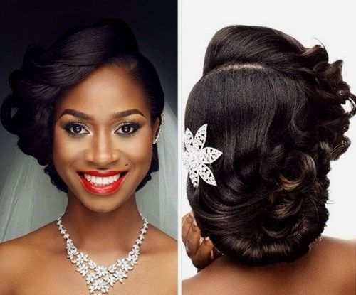 50 Superb Black Wedding Hairstyles | Black wedding hairstyles .