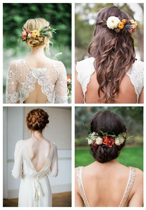 35 Beautiful Fall Wedding Hairstyles | HappyWedd.c