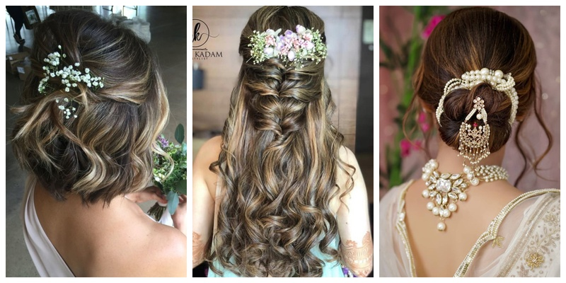 Trending Wedding Hairstyles for long, short & medium haired brides .