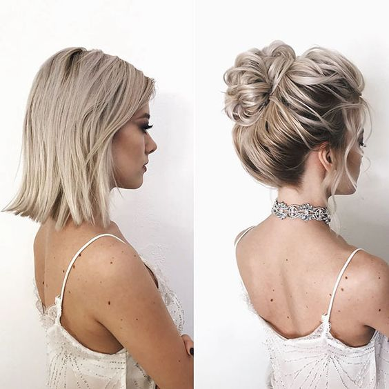 35+ Stylish Wedding Hairstyles for Short Hair in 2019 | Svadobné .