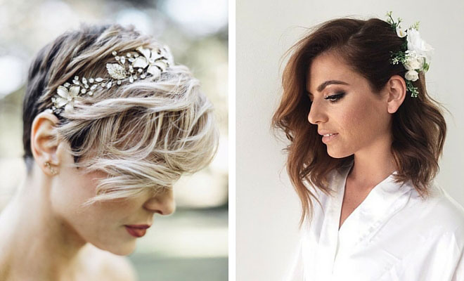 31 Wedding Hairstyles for Short to Mid Length Hair | StayGl