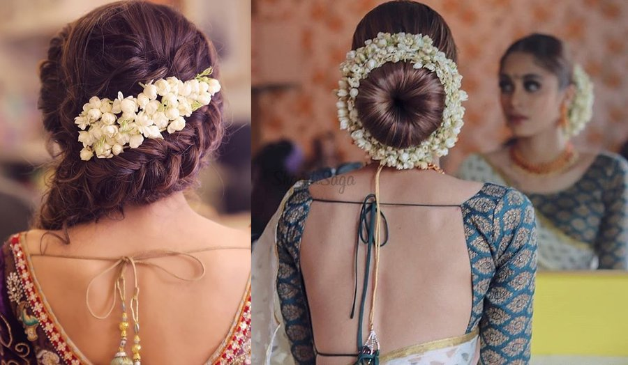 15 Easy Ways to include Gajra in your Hairstyle this Wedding .