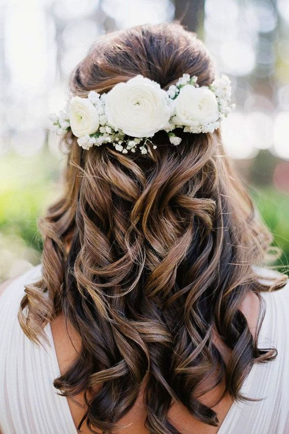35 Trendiest Half Up Half Down Wedding Hairstyle Ideas | Wedding .