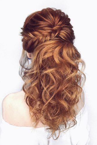 45 Perfect Half Up Half Down Wedding Hairstyles | Wedding hair .