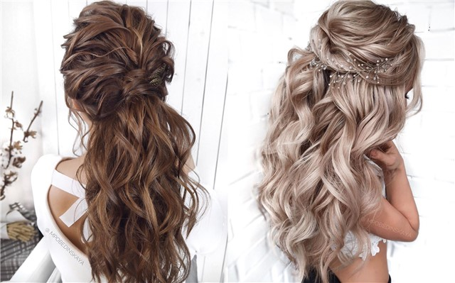 30 Half Up Half Down Wedding Hairstyles | Deer Pearl Flowe