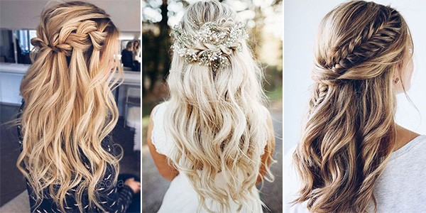 20 Brilliant Half Up Half Down Wedding Hairstyles for 2019 .