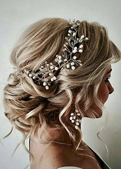 Amazon.com : FXmimior Bride Hair Accessories Crystal Hair Vine .