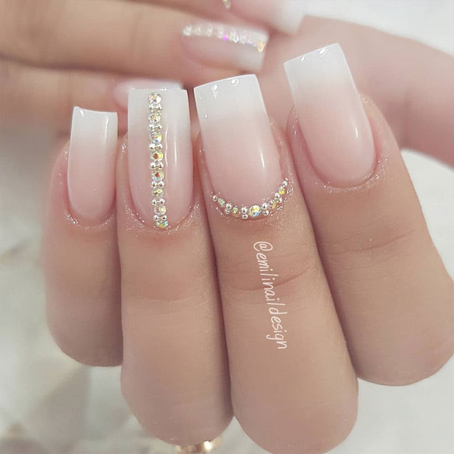 100 Beautiful wedding nail art ideas for your big day 1 - Fab Mood .